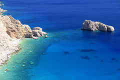 Blue Greek lagoon Royalty Free Stock Photography