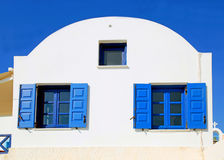Blue greek windows Royalty Free Stock Photos