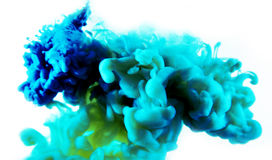 Blue green abstract art Stock Photography