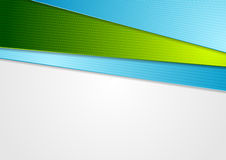 Blue and green abstract corporate background Stock Photography