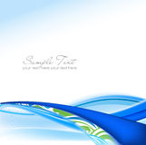 Blue and green Abstract fume waves stock illustration