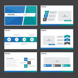 Blue and green Abstract presentation template Infographic elements flat design set for brochure flyer leaflet marketing Royalty Free Stock Photo