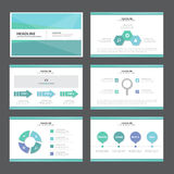 Blue and green Abstract presentation template Infographic elements flat design set for brochure flyer leaflet marketing. Blue andd green presentation templates Royalty Free Stock Images