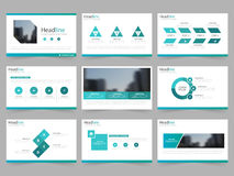 Blue green Abstract presentation templates, Infographic elements template flat design set for annual report brochure flyer leaflet Royalty Free Stock Photography