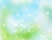 Blue green abstract spring blurred background. Blue green natural abstract bokeh blurred background.Spring summer defocused illustration vector illustration
