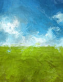 Blue green abtsract landscape Stock Photos
