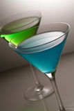 Blue and green alcohol cocktail Royalty Free Stock Image