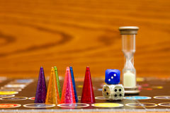 Free Blue, Green And Red Plastic Chips Dice And Board Games For Children . Stock Photography - 91053322