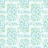 Blue and Green Aqua Water Falling Vector. Blue Aqua Water Falling Vector Pattern Seamless Background, Drawn Liquid Scribble Illustration for Trendy Home Decor stock illustration