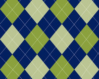 Blue and green argyle Royalty Free Stock Photography