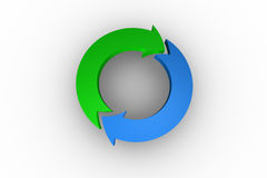 Blue and green arrow circle Royalty Free Stock Photo