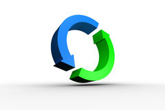 Blue and green arrow circle stock illustration