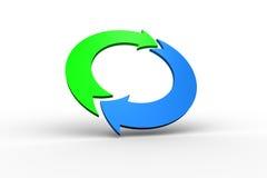 Blue and green arrow circle Stock Photo
