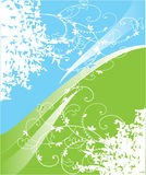 Blue and green background vector illustration