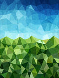 Blue and green background with circle pattern Royalty Free Stock Photo
