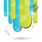 Blue and green background with dragonfly Royalty Free Stock Image