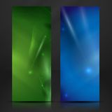 Blue And Green Banner. Stock Image