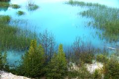 Blue and green - beautiful russian nature Stock Photo