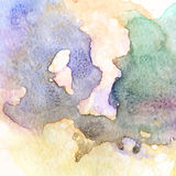 Blue green beige colorful watercolor texture Royalty Free Stock Photography