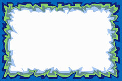 Blue green border. Irregular border of blue and green Royalty Free Stock Images