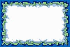 Blue green border. Irregular border of blue and green vector illustration