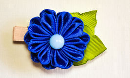 Blue and green bow Royalty Free Stock Photography