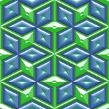 Blue Green Boxes and Triangles Stock Photography