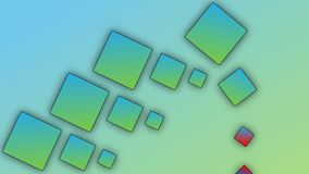Blue-green bricks on gradient background vector illustration