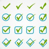 Blue green buttons on white background Royalty Free Stock Image
