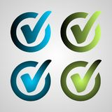Blue green buttons on white background for web site or application. vector illustration