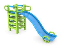 Blue green children slide 3D Stock Image