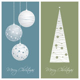 Blue and green christmas card backgrounds. Set of blue and green christmas card backgrounds,  illustration Royalty Free Stock Image