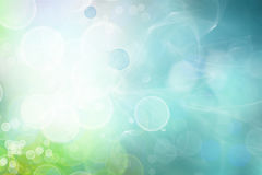 Blue green circles abstract background. Blue, green and white circles background, space for advertising copy Royalty Free Stock Image