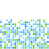 Blue green circles on white background Royalty Free Stock Image