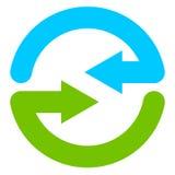 Blue and green circular arrow symbol / icon. Royalty free vector illustration vector illustration