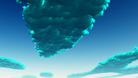 Blue green Clouds Royalty Free Stock Images