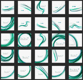 Blue and green color abstract waves Royalty Free Stock Images