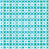 Blue green color star square seamless pattern royalty free illustration