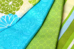 Blue and Green Colorful Palette of Fabric Royalty Free Stock Image