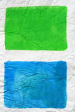 Blue and green colors squares Royalty Free Stock Photography