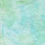 Blue and green crumpled paper for background Royalty Free Stock Photography