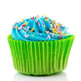Blue and green cupcake Stock Image