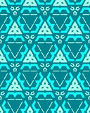 Blue green cyan color abstract geometric seamless pattern Stock Image