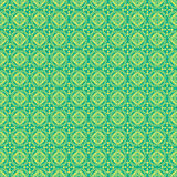 Blue and green Damask Pattern Background Royalty Free Stock Photography