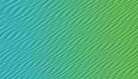 Blue and green  diagonal curves and angles abstract background illustration. Computer generated diagonal curves, angles, and lines abstract wallpaper background royalty free illustration