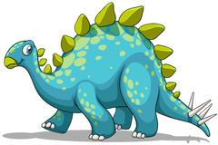 Blue and green dinosaur Stock Photography
