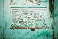 Blue Green Door Detail Royalty Free Stock Photo