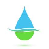 Blue and green drop symbol royalty free illustration
