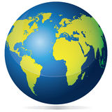 Blue and Green Earth Stock Images