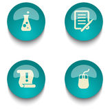 Blue green education web button set. Blue green web button set on white background Stock Photography